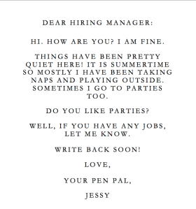 real cover letter